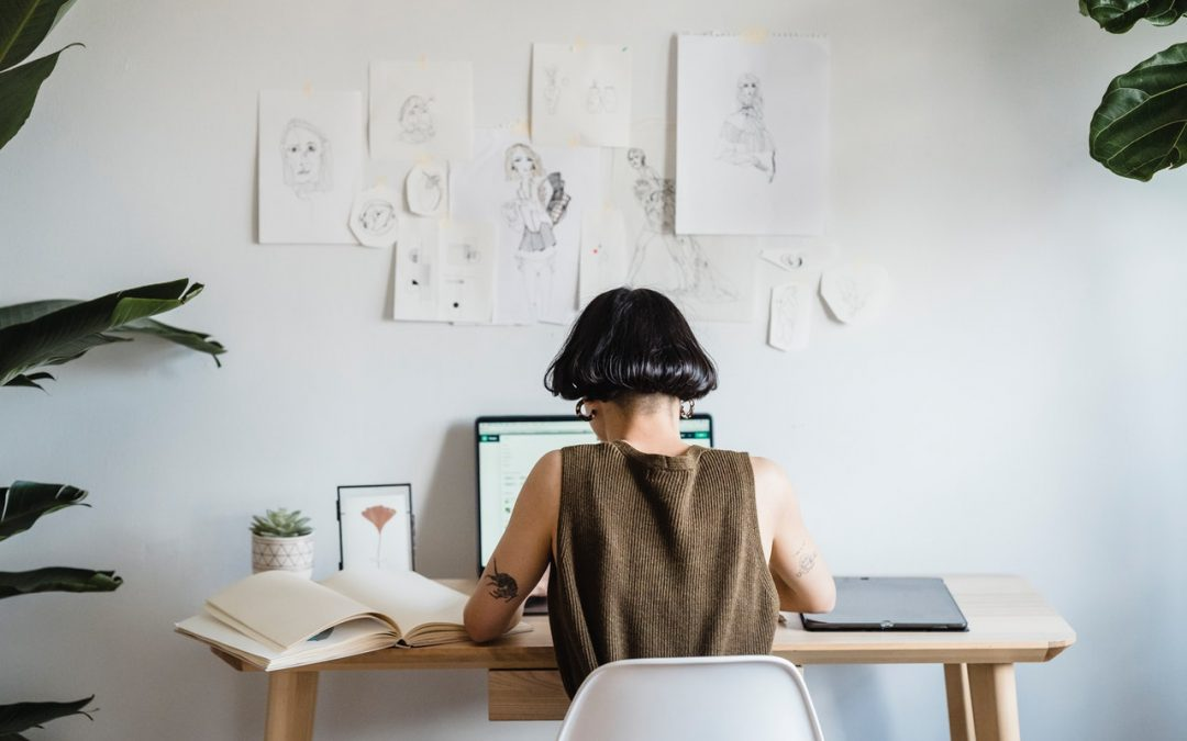 woman creating